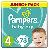 Pampers - Baby Dry - Couches Taille 4 (9-14 kg) - Jumbo+ Pack (x78 couches)