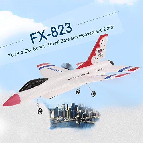 Goolsky- FX-823 Avión 2.4G 2CH 290mm Envergadura Planeador de Control Remoto ala Fija EPP RC Avión RTF