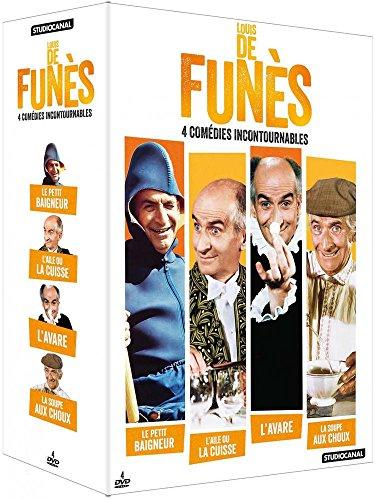 Louis de Funès - 4 comédies incontournables : La Soupe aux choux + L'Aile ou la cuisse + L'Avare + Le Petit baigneur