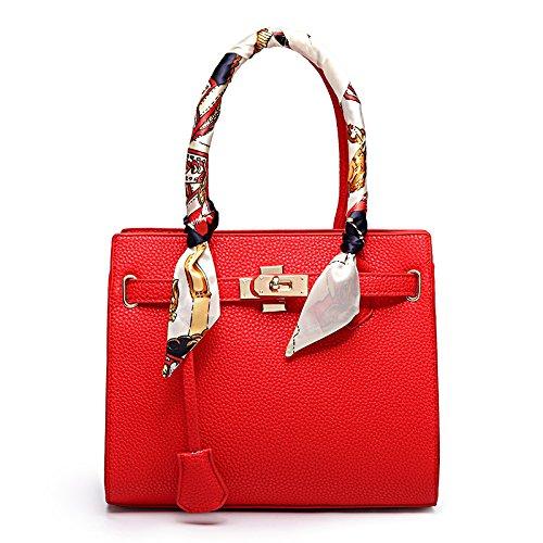 Mefly 2017 Nuove Borse Donna Croce Obliqua Borsa Pu Bag Gules gules