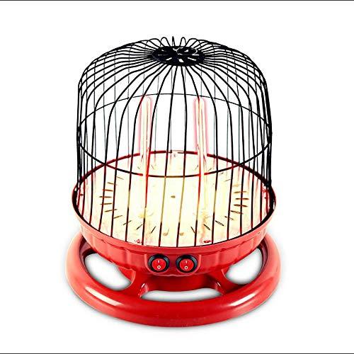 YONGMEI Mini Mahjong Grillen Haushalt Quarzrohr Heizung Thermostat Heizung Doppel Schalter Doppel Heizelement Stille Licht 800 Watt 260 * 270mm Living Ware Möbel (Farbe : Red) (Thermostat Propan Shop-heizung)