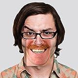 Face Mats Bierdeckel mit 40 lustigen Motiven - Gesichter Untersetzer Glasuntersetzer lustig Glas Untersetzer im 20er Set