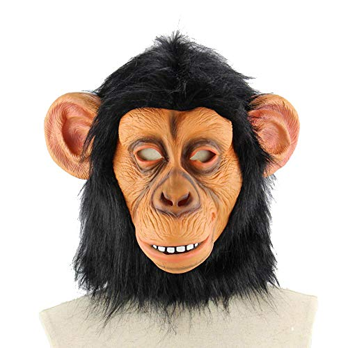 LXIANGP Latex Maske Halloween großes Ohr Tier Tier Orang-UTAN Affe Kopfbedeckung Kostüm cos Horror Geist lustige Maske