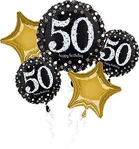 """Amscan International-3214501""""brillante 50th cumpleaños ramo de globos de"""""""