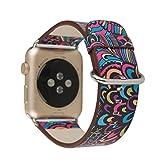 superbe bracelet modèle forestier bracelets colorés pour la série montre de pomme 38mm 3 2 1 avec boucle ardillon