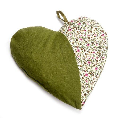 Grünspecht 103-V3 Kirschkern-Kissen Herzenswärme, grün