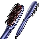 FURIDEN Glättbürste Haarglätter Bürste, Glättbürste Für Kurze Haare...