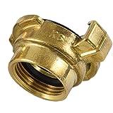Agora-Tec® Messing Schnellkupplung mit 3/4 Zoll (24,2 mm) Innengewinde inkl. Flachdichtung Kupplung mit Schnellverschluss