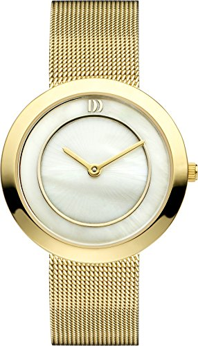 Danish Design Women's Quartz Watch with Mother of Pearl Dial Analogue Display and Gold Stainless Steel Gold Plated Bracelet DZ120223
