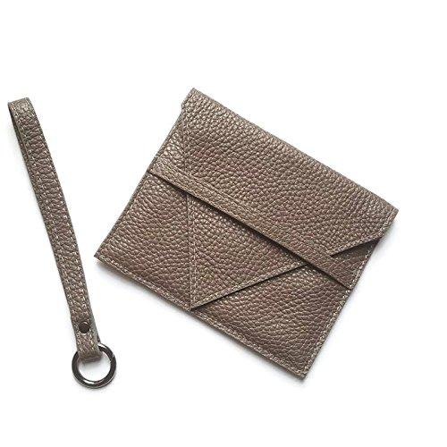 Portafoglio in pelle qualità artigianale italiana Ganza su Amazon colore grigio