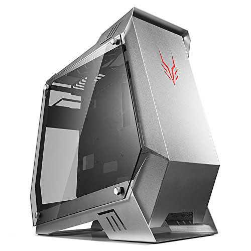 Golden Field Silber Fox Serie 5300 Wasser gekühlt Double Side Windows Gaming Computer Fall – Silber