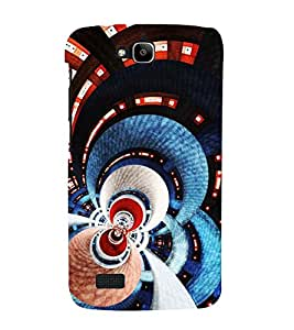 PrintVisa Designer Back Case Cover for Huawei Honor Holly (Electric Multicoloured Abstract Pattern)