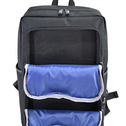 LAIDAYE Outdoor-Reisen Oxford Tuch Umhängetasche Business Freizeit Mehrzweck- Reiserucksack Blue