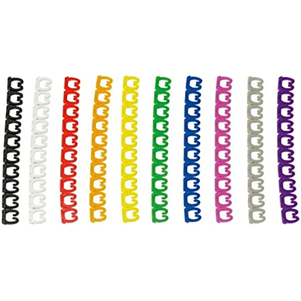 Faconet 100x Farbcodierte Kabelclips Für R45 Ethernet Computer Zubehör