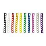 Lot de 100 clips de câble Faconet pour câble Ethernet R45 Anneaux de codage pour câble de patch - Color Coded Cable Clips