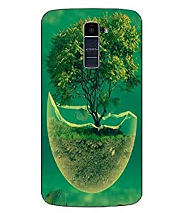 Case Cover Fish Printed Blue Hard Back Cover For LG K10