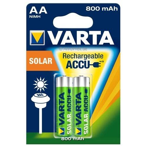 Varta Akku Mignon AA Ni-MH 800mAh SOLAR Leuchten Lampen Accu Batterie HR6 Mignon Aku Aa Solar Akku