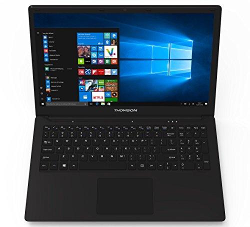 Thomson D15-32 - Ordinateur Portable 15,6' Noir - Windows 10 Home - Processeur Intel Atom - 2 Go de RAM - 32 Go de Stockag