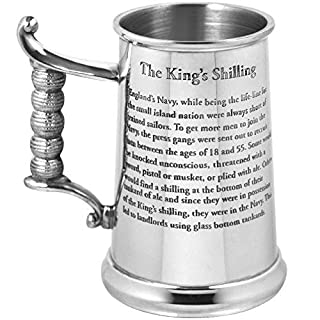 English Pewter Company 1 Pint Heavy Gauge Kings Shilling Pewter Tankard - As Seen On TV [HG170]