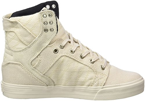 Supra Skytop, Haute Sneakers Homme Weiß (Off White-Off White)