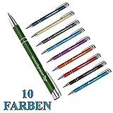 1 Metall Oleg Kugelschreiber mit Gravur des Namens - Geschenk-Idee Mitbringsel   Farbe grün