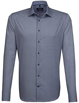 SEIDENSTICKER Herren Hemd Tailored 1/1-Arm, extra lang Bügelleicht City-Hemd Kent-Kragen Kombimanschette weitenverstellbar