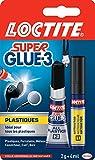 Loctite Super Glue 3 Spezialkleber für Kunststoff, 2°g Kleber + 4°ml Aktivator
