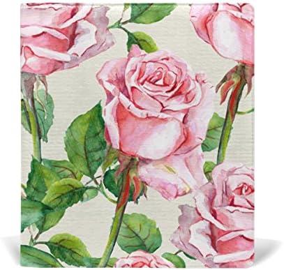 ALAZA Aquarelle Rose Rose Floral réutilisable en cuir Couverture de livre 9 x 11 pouces pour moyen à la taille Jumbo Relié Livres scolaires Femmeuels scolaires B078XGX893 | De Nouveaux Produits 2019
