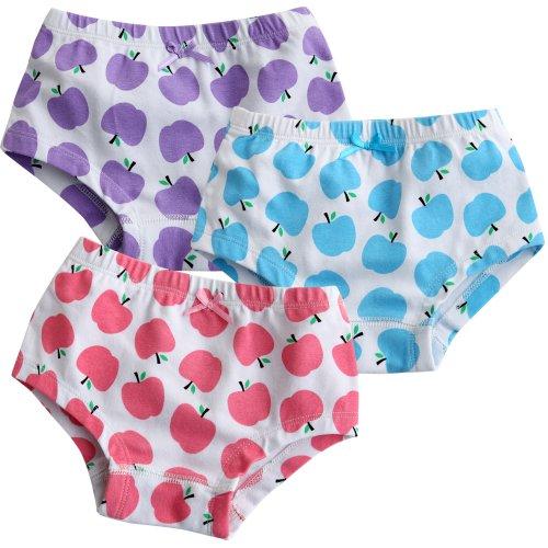 Vaenait Baby Kleinkind Kinder Madchen Unterwasche Slips 3-Pack Set Apple Tree L