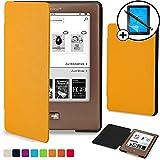 Forefront Cases® Tolino Shine Shell Hülle Schutzhülle Tasche Bumper Folio Smart Case Cover Stand - Ultra Dünn und Leicht mit Rundum-Geräteschutz inkl. Eingabestift und Displayschutz (GELB)