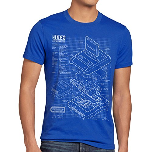style3 SNES Blueprint Men's T-Shirt 16-Bit Video Game