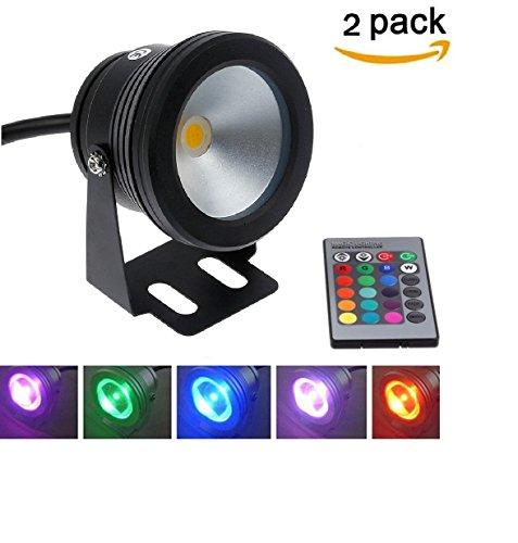 2pcs Aurox 10W 12V RGB Color Changing IP67 LED