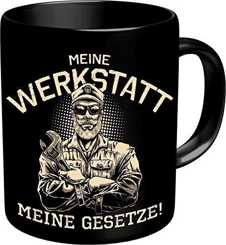 RAHMENLOS Original Kaffeebecher für Den Mechaniker und Schrauber: Meine Werkstatt, Meine Gesetze! - Im Geschenkkarton 2630