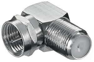Connecteur :  fiche f> prise f, 90°, wE 1166 cu w (> connecteur f-jack h.q).