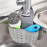 Estante de almacenamiento para fregadero, organizador de escurreplatos de cocina, soporte para jabón Frontoppy Drain Rack Leaking Basket with Double Layers for Kitchen,Bathroom