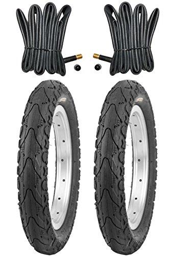 2 x Kenda Reifen Fahrradreifen 16 Zoll 47-305 16 x 1.75 inklusive 2 x Schlauch mit Autoventil (16)