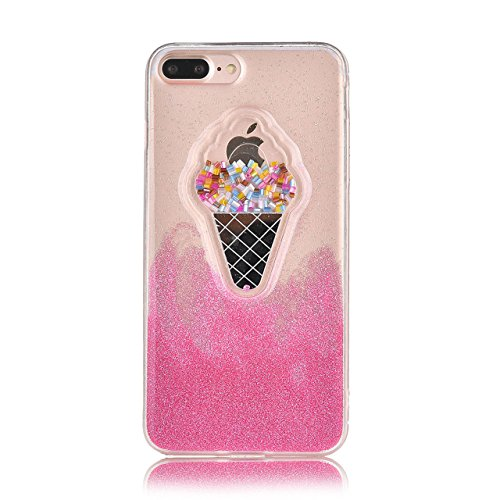 Coque iPhone 8 Plus iPhone 7 Plus,Sunroyal [Liquid Crystal] Ultra Mince Premium TPU silicone Case [Crystal Clear] Transparente / Bumper-Style / Anti-choc / Adherence exacte / Sans Encombrement Flexibl Motif 06