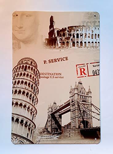 MI RINCON Placa matrícula Vintage Motivo Postal Service