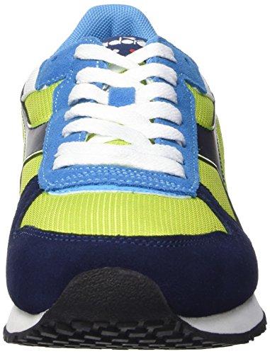 Diadora Malone, Scarpe da Corsa Unisex-Adulto Multicolore (C6015 Verde Acido/Blu Estate)