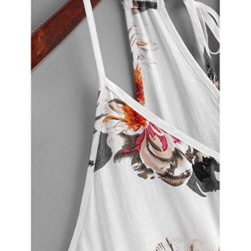 T Bianco Manadlian Donne Del Parte Superiore Del Cappotto Cami Sleeveless Casuale Floreale Rivestimento shirt Serbatoio Mutandine Camicia 2017 Donne Della RrRpqx
