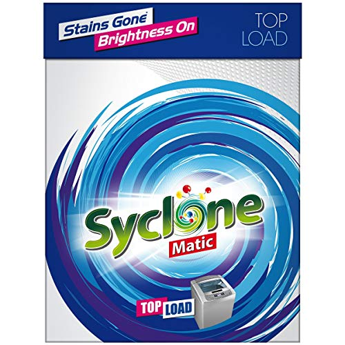 Syclone Matic Top Load Detergent Powder for Washing Machine, 2kg
