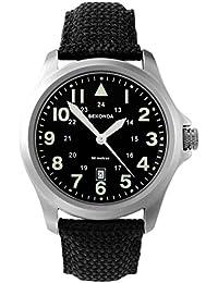 Sekonda Men's Quartz Watch with Black Dial Analogue Display and Black Nylon Strap 3347.27