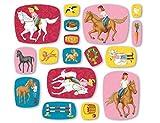 51-teiliges XXL-Konfetti * BIBI & TINA * für Kinderparty und Kindergeburtstag von DH-Konzept // Blocksberg Deko Party Set