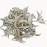 100 Gramm Premium 'cluster Qualität' weißer Salbei lose - zumeist kleine reine natürliche Salbei Büschel verpackt zu je 50 Gramm in hochwertigen aromaschonenden Beuteln - zum Räuchern / Räucherwerk: -- von Native-Spirit -- white sage