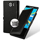 Blackberry Priv Lederhülle,Keledes BookStyle Slim Case mit