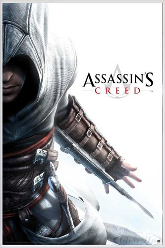 Assassins Creed Poster Altair Hidden Blade (93x62 cm) gerahmt in: Rahmen weiss