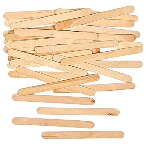 Natural Wooden Craft Sticks for Crafting Collages and Decorations (Pack of 250)