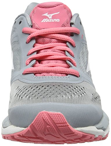 Mizuno Synchro MX, Scarpe da Corsa Donna Grigio (Quarry/White/Strawberry Pink)