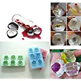 Diamond-Pattern 6-Cavity Ice Cube Mold Tray Novelty---Random Color