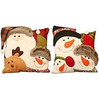 Funda de almohada de Navidad wendaby Christmas Series Funda de cojín Funda de almohada Patrón de combinación de muñeco de nieve de Navidad Funda de cojín Funda de cojín cuadrado para sofá, sofá, cama
